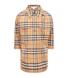 BURBERRY KIDS Vintage check girl shirt dress