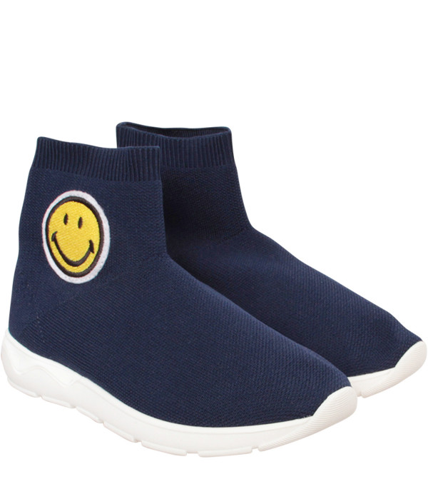 JOSHUA SANDERS KIDZ Blue socks sneaker with smile
