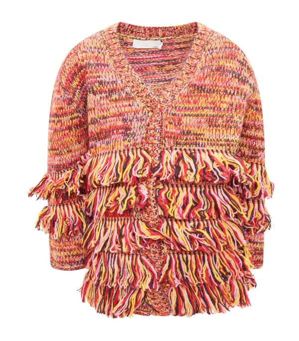 STELLA MCCARTNEY KIDS Multicolor girl cardigan with fringes