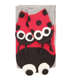 STELLA MCCARTNEY KIDS Multicolor set shaped like ladybug