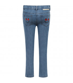 STELLA MCCARTNEY KIDS Jeans bambina blu con patch