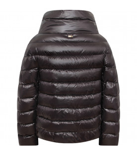 HERNO KIDS Black girl jacket