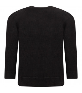 GIVENCHY KIDS Black boy sweater with white stars
