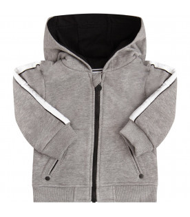 GIVENCHY KIDS Melanged grey with silver logo