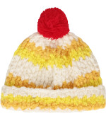 Bobo Choses Colorful hat with red pom-pom