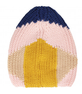 BOBO CHOSES Cappello multicolor con logo blu