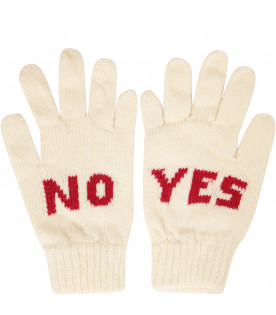 BOBO CHOSES Ivory glove with red writing