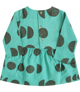BOBO CHOSES Green dress with brown print