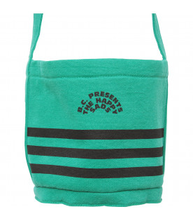 BOBO CHOSES Green bag with black print