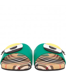 BURBERRY KIDS Colofrul sandals with monster eye