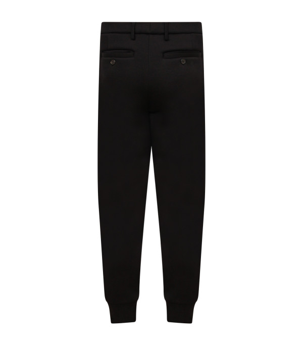NEIL BARRETT KIDS Black boy pant with side bands