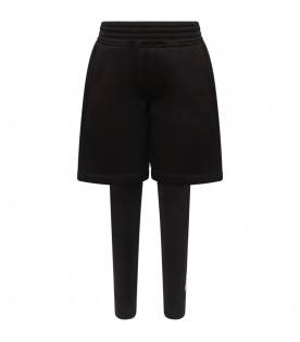NEIL BARRETT KIDS Black boy short with leggings