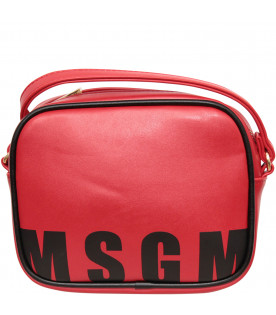 MSGM KIDS Red back withe logo