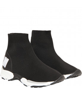 MSGM KIDS Black sock sneaker