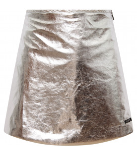MSGM KIDS Silver girl skirt