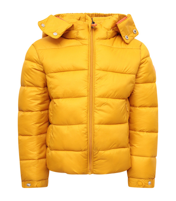 SAVE THE DUCK KIDS Yellow hooded jacket