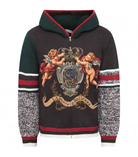 DOLCE & GABBANA KIDS Multicolor boy sweatshirt with colorful angels