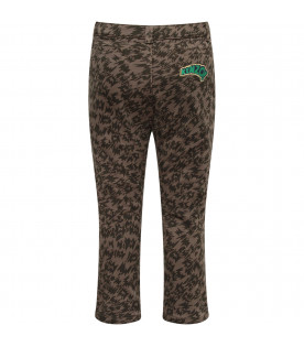 KENZO KIDS Military green boy pants with green logo