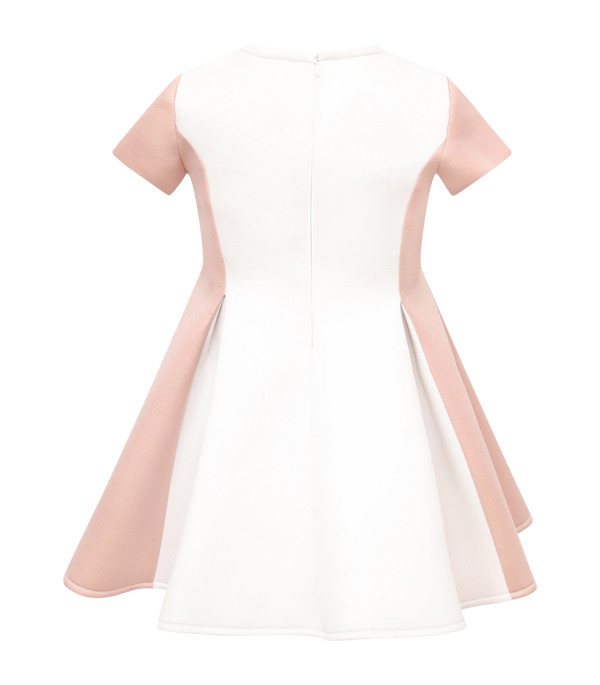 LOREDANA Pink and white girl dress with bow