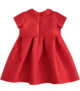 LÒLÒ Red dress with colorful bow