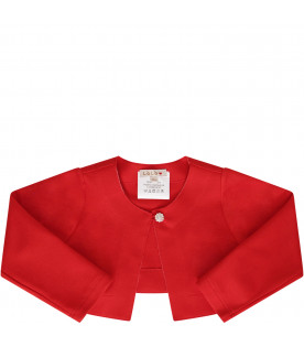 LÒLÒ Red cropped jacket