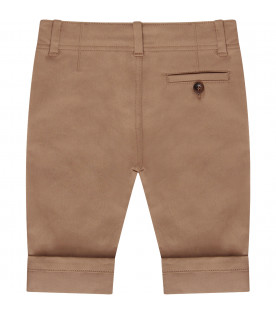 GUCCI KIDS Beige pant with red and blue Web detail