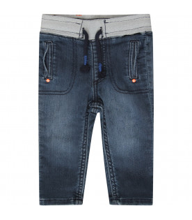 BILLYBANDIT Blue jeans with orange logo