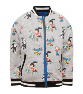 STELLA MCCARTNEY KIDS Multicolor boy bomber jacket with colorful patches