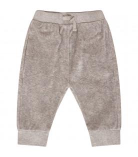 STELLA MCCARTNEY KIDS Grey sweatpants with colorful smile