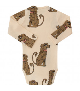 MINI RODINI Ivory bodywith colorful dogs