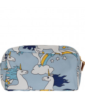 MINI RODINI Light blue case with all-over colorful print