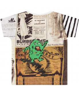 BURBERRY KIDS T-shirt con stampe multicolor