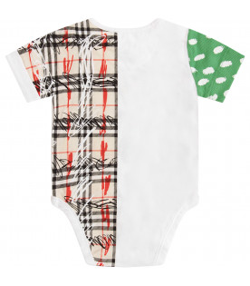 BURBERRY KIDS White body with colorful print