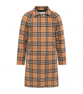 BURBERRY KIDS Cappotto con motivo vintage check