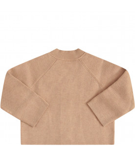 BURBERRY KIDS Cardigan cammello