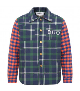 NATASHA ZINKO Multicolor boy shirt  with check
