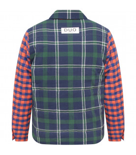 Multicolor boy shirt  with check