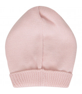 Pink hat with ruffle
