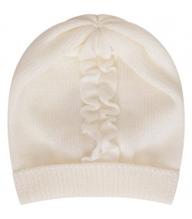 LITTLE BEAR White hat with ruffle