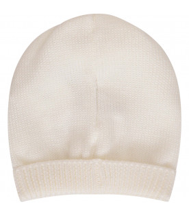 LITTLE BEAR Cappello bianco con rouche