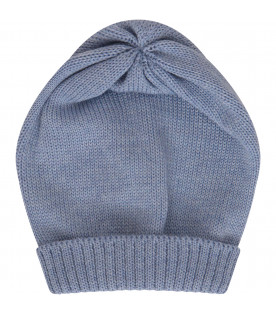Light blue hat with turn-up