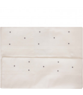 LITTLE BEAR White bad sheet with grey polka-dots