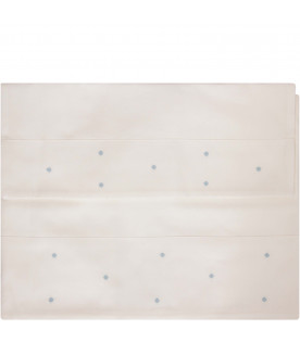 LITTLE BEAR White bad sheet with heavenly polka-dots