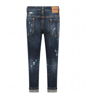 "DSQUARED2 Blue denim ""Glam Head"" boy jeans"