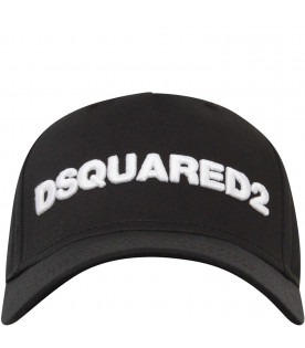 DSQUARED2 Black hat with white logo