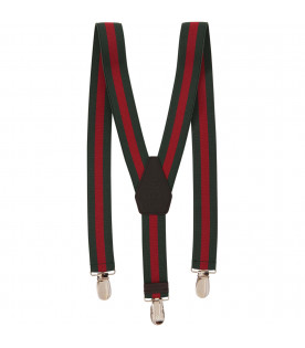 GUCCI KIDS Red and green braces