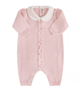 LITTLE BEAR Tutina rosa con rouche