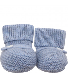 LITTLE BEAR Light blue baby bootee