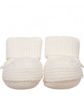 LITTLE BEAR White baby bootee