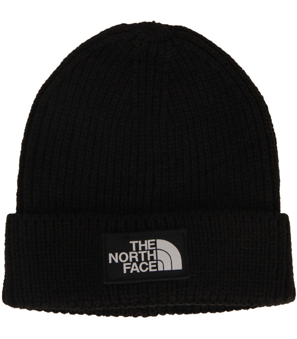 THE NORTH FACE KIDS Black hat with white logo